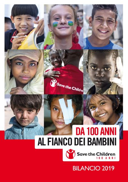 copertina del Bilancio 2019 Save the Children Italia