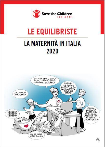 copertina del rapporto mamme di Save the Children Italia