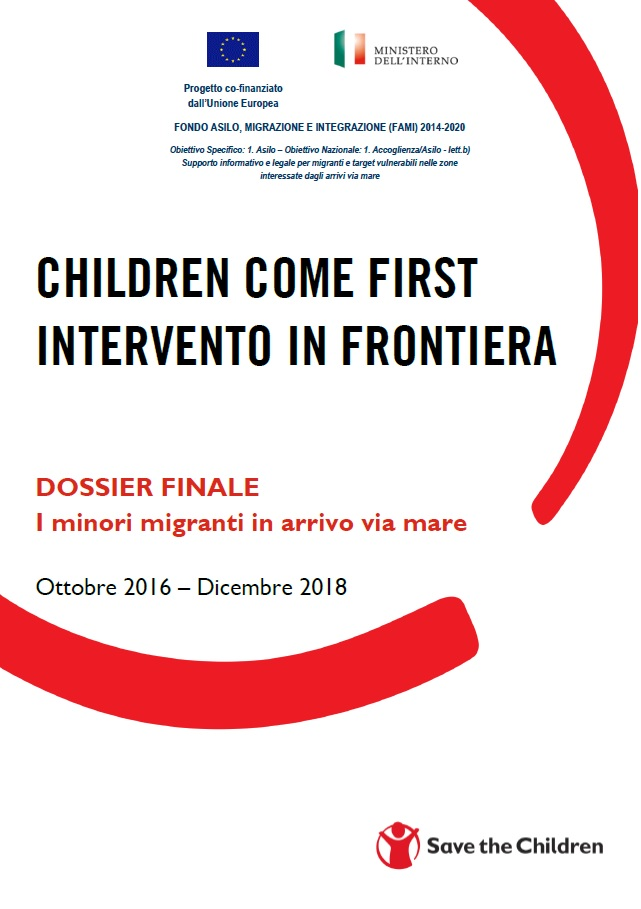 copertina del report children come first