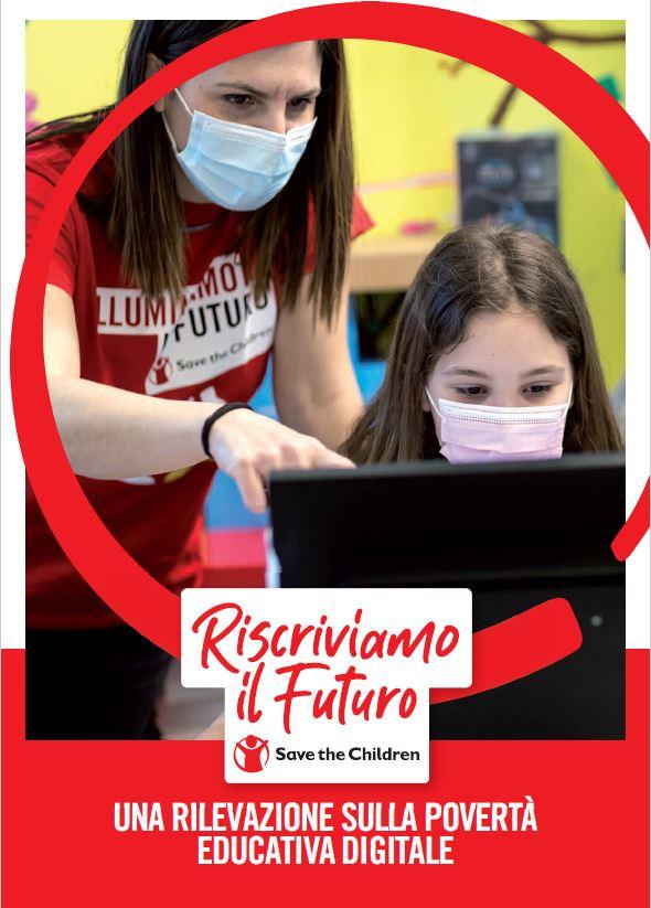 Copertina report Una rilevazione sulla povertà educativa digitale