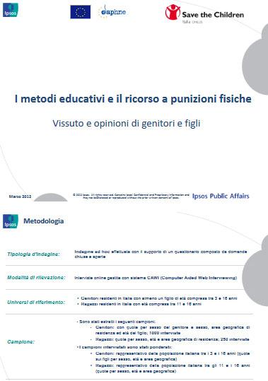 I metodi educativi e il ricorso a punizioni fisiche