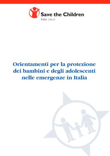 Orientamenti per la protezione dei bambini prima e dopo le emergenze