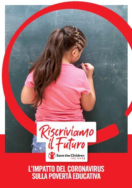 copertina del rapporto riscriviamo il futuro