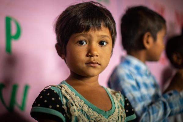 Bambina originaria del Nepal
