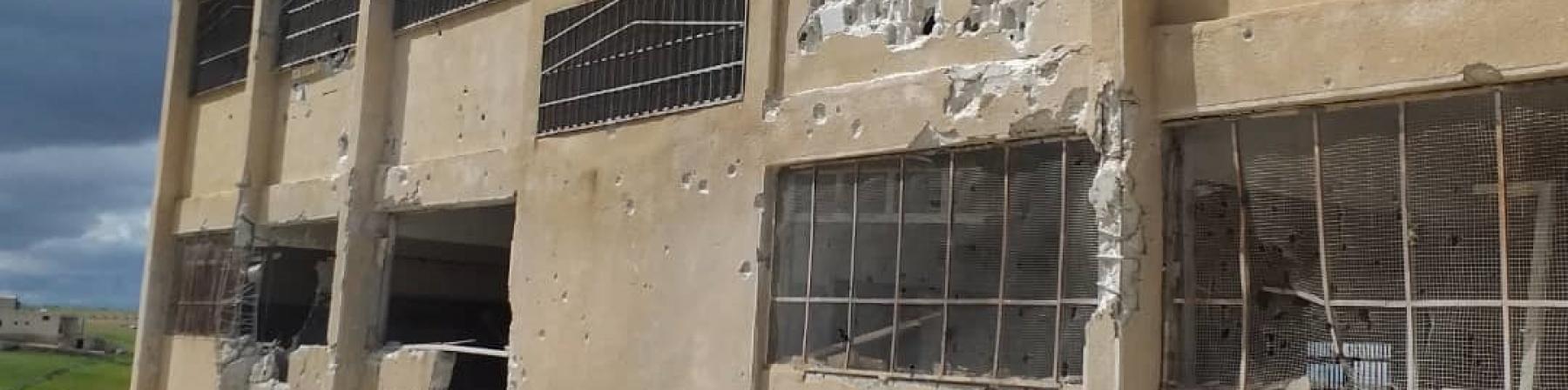 Scuola bombardata in Siria