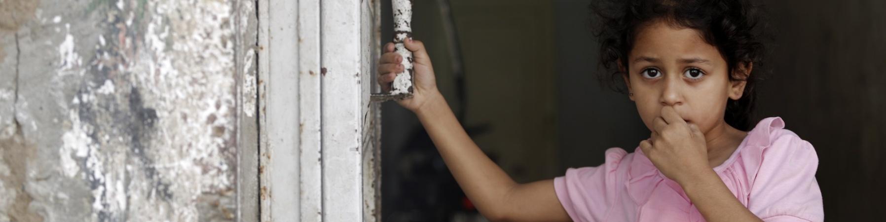 Bambina striscia di Gaza