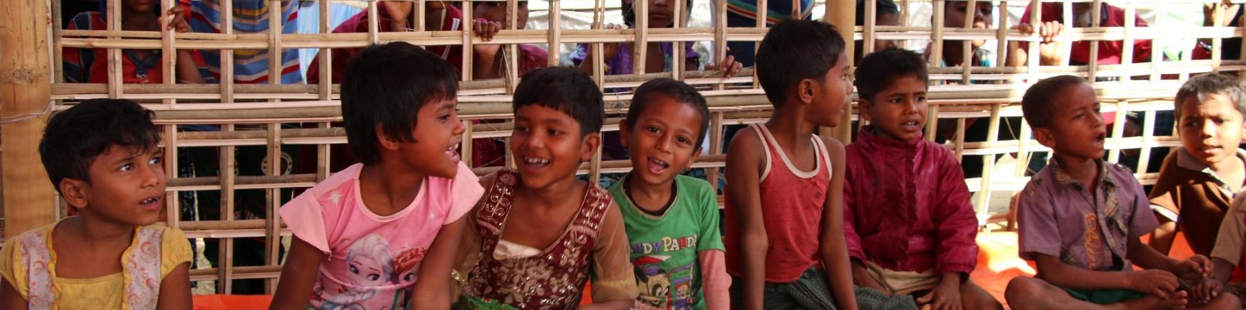 Bambini Rohingya Cox Bazar