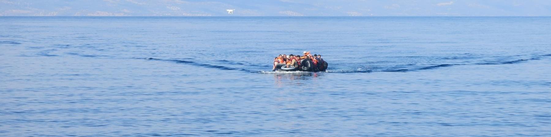 gommone in mare aperto