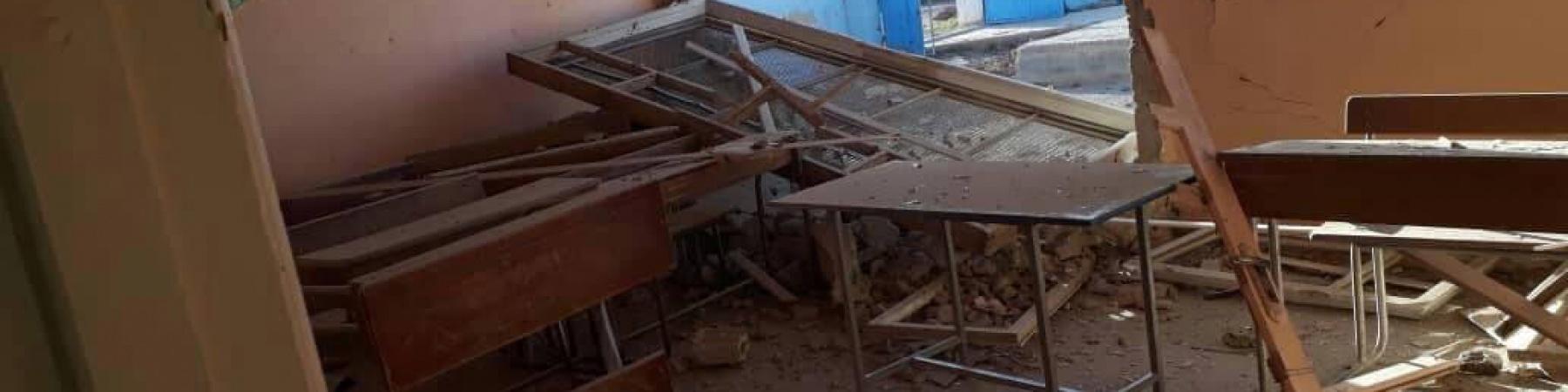 scuole bombardate in siria
