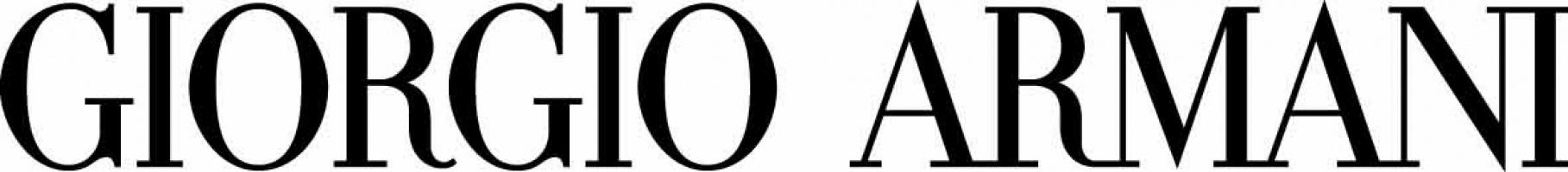 logo scritta nero sfondo bianco Giorgio Armani