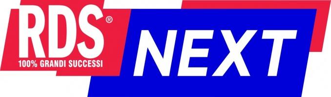 logo rosso e blu di RDS Next