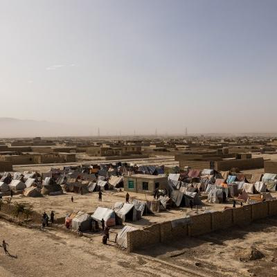 Un campo sfollati nel nord dell'Afghanistan.