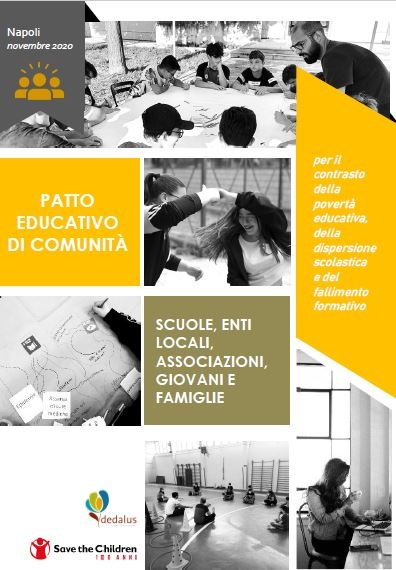 Copertina della pubblicazione relativa al Patto Educativo di comunità a Napoli