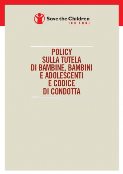 copertina policy tutela Save the Children Italia