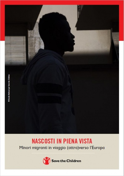 copertina del report sul tema dei minori migranti in viaggio verso l'Europa