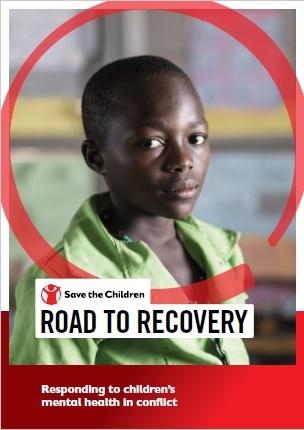 copertina del report road to recovery con in copertina un bambino di carnagione scura con maglietta verde