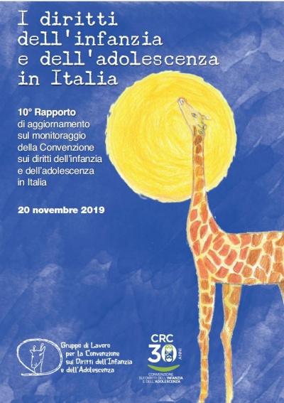 copertina rapporto CRC diritti infanzia adolescenza in Italia