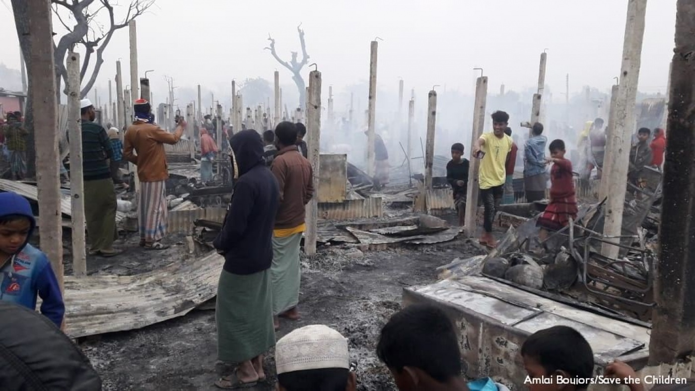 Rohingya: devastante incendio nel campo di Cox's Bazar | Save the Children  Italia