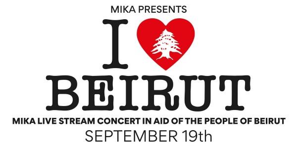 Icona del concerto di Mika per il popolo Libanese I love Beirut
