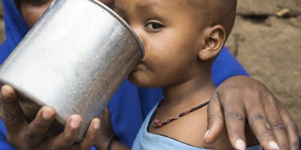 Bambino Etiopia Siccità