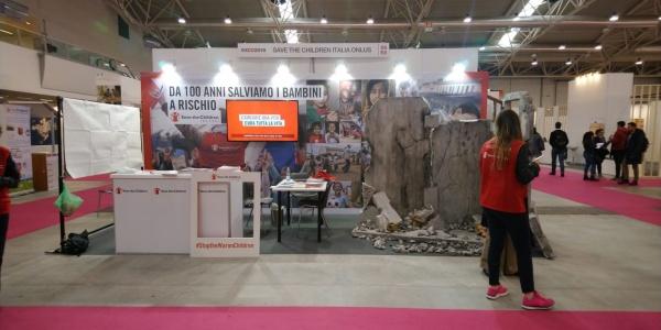 foto padiglione Save the Children ad EXCO2019