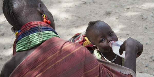 Bambini malnutriti in Kenya a causa della siccità