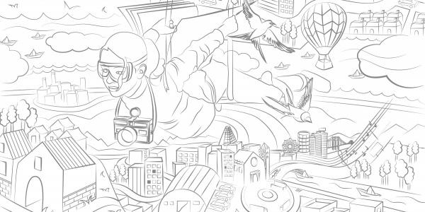Illustrazione della copertina di TuttoMondo Contest 2020 il concorso creativo per under 21 di Save the Chidlren.