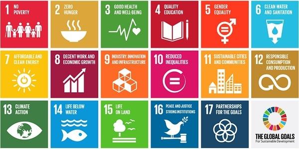 I 17 Obiettivi di Sviluppo Sostenibile dell'agenda 2030