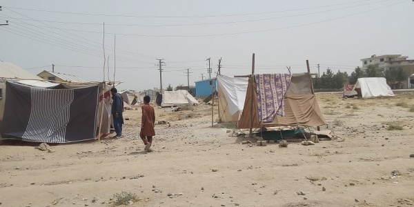 accampamento temporaneo in Afghanistan